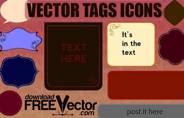 Tags and Icons Vector Graphic