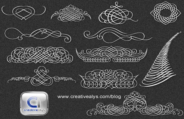 Calligraphic Ornaments Vector Art