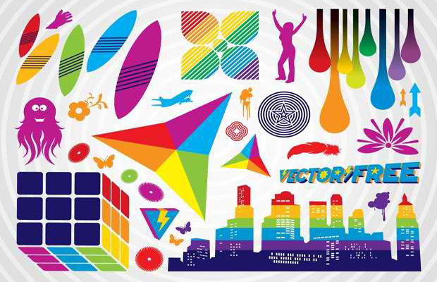 Colorful Vector Graphic Icons