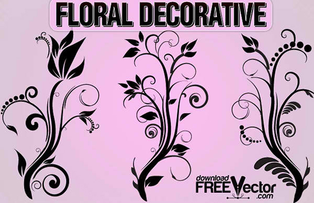 Floral Ornaments Vector Art