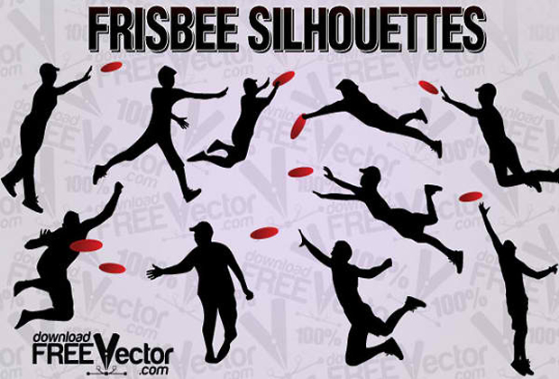 Frisbee Silhouette Vector Graphic