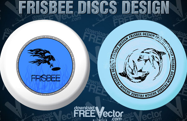Frisbee Vector Graphic Design