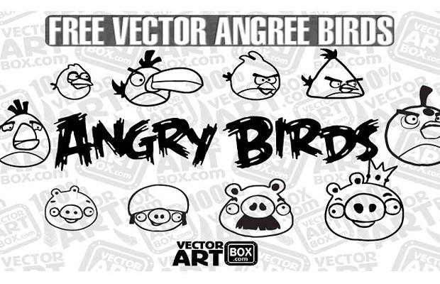 Angry Birds Cartoon Vector