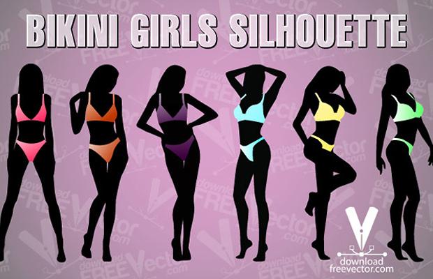 Bikini Girls Vector Art