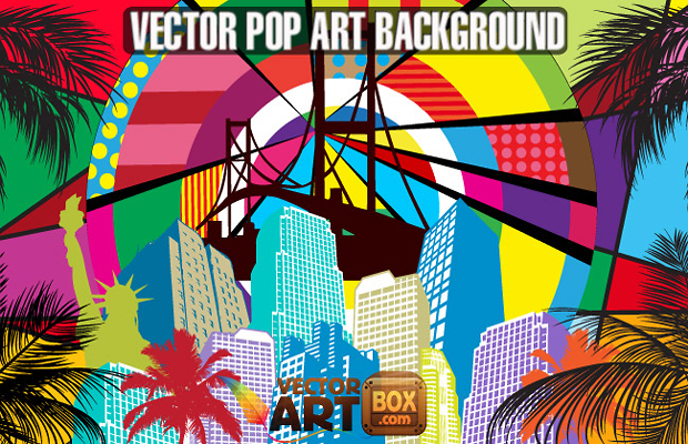 Pop Art Vector Background