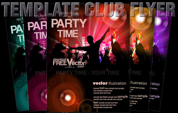 Club Poster Template Vector