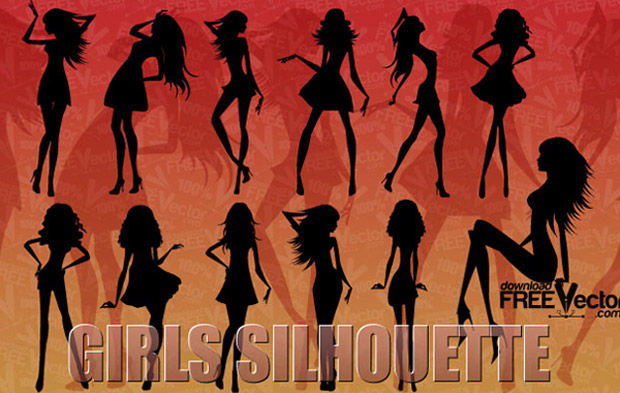 Girls Silhouette Vector