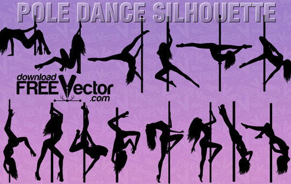 Pole Dance Clip Art Vector