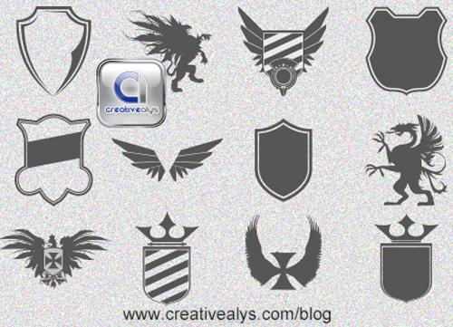 Heraldic Logo Design Vector