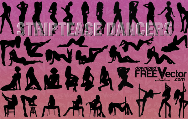 Striptease Women Clipart Vector