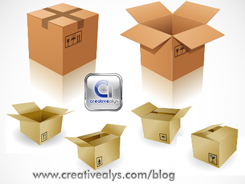 3D Boxes Vector