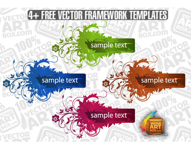 Colorful Flourish Template Vector