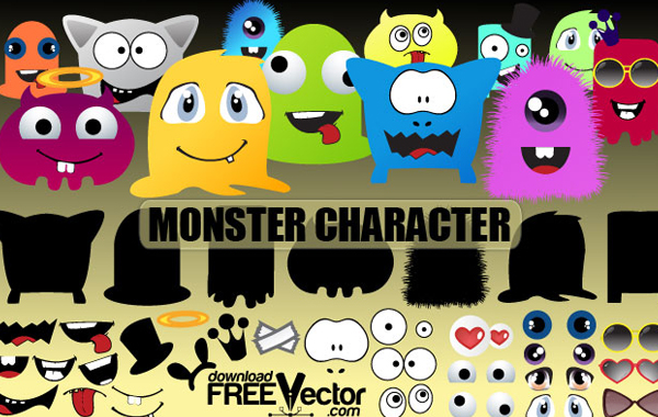 Colorful Monster Vector