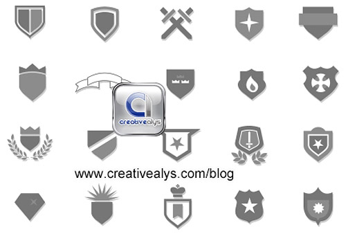 Heraldic Shields And Crests Vector