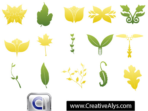 Logo Leaves Vector