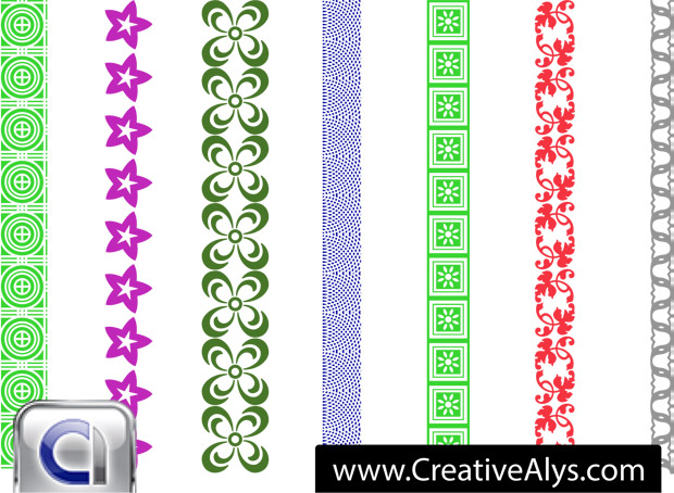 Border Seamless Patterns Vector