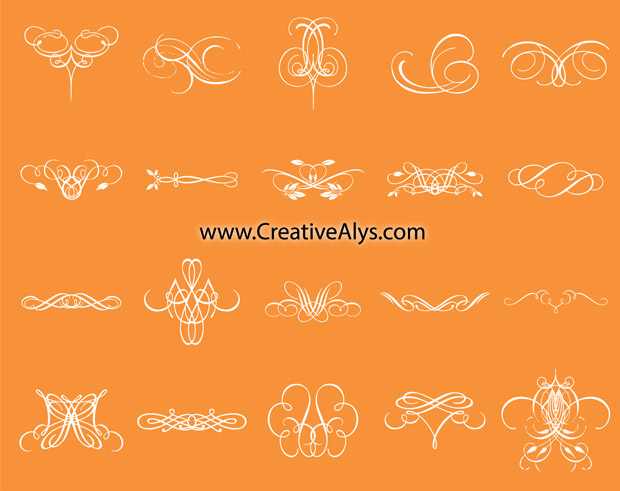 Calligraphic Design Collection Vector