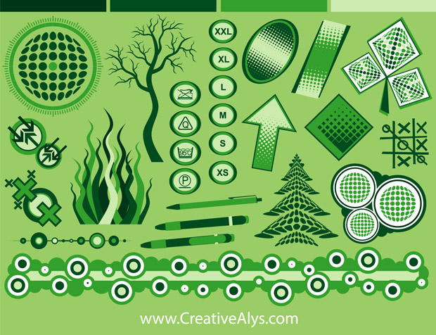 Green Graphics Design Vector