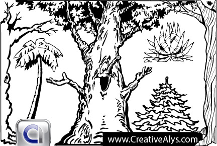 Tree Artwork Vector
