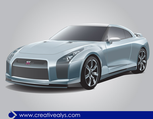 Beautiful Nissan Gtr Vector