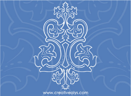 Blue Ornament Vector
