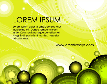 Green Flyer Background Vector